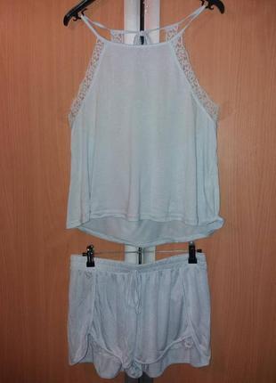 Пижама с топом и шортами new look3