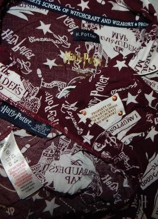 Love to lounge пижама вискозная рубашка с шортиками рм 10-12 harry potter4