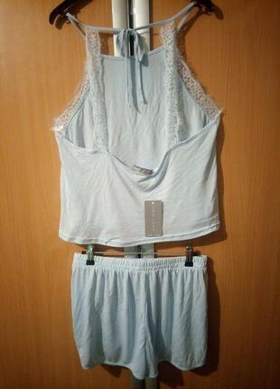 Пижама с топом и шортами new look4