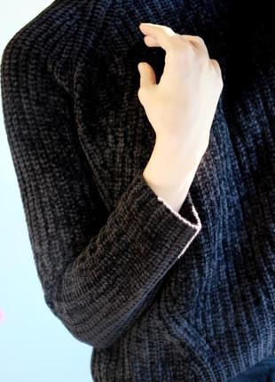 Велюровый свитер bershka3