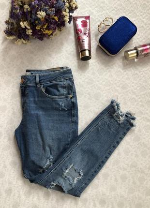 River island рванные джинсы l- размер5