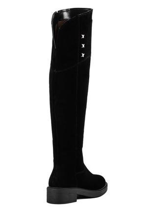 998цп женские ботфорты kento,замшевые,на платформе,на низком ходу,на толстой подошве4