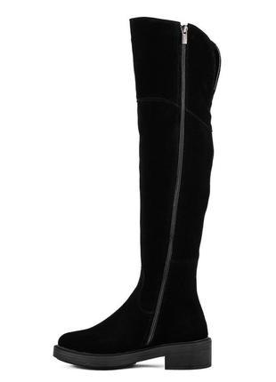 998цп женские ботфорты kento,замшевые,на платформе,на низком ходу,на толстой подошве3