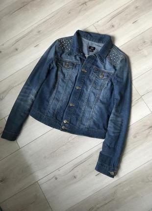 Крутая  джинсовая куртка  h& m1
