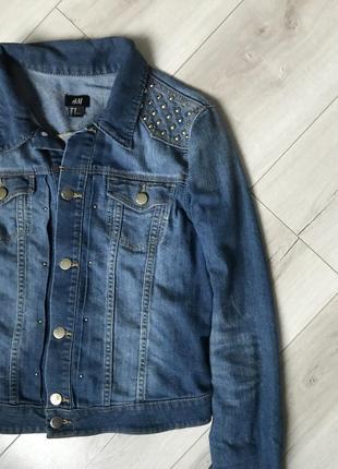 Крутая  джинсовая куртка  h& m2
