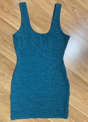 Нарядное фирменное платье цвета морской волны1