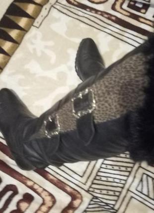 Сапоги,ботфорды кожаные1 фото