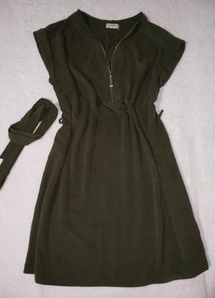 Платье рубашка на молнии1