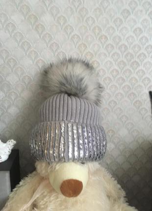 Продам тёплую и стильную шапку на флисе1