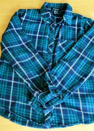 Стильная коттоновая рубашка в клетку atmosphere размер s2