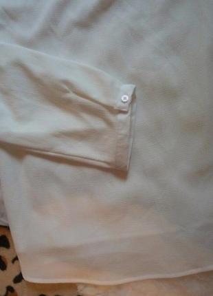 Новая белая туника блуза с рюшами длинная большой размер батал плюс сайз рукав4