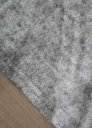 Теплый укороченный свитер кроп топ гольф меланж с добавлением шерсти р. m l4