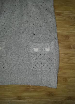 Супер мягкий комфортный молодежный жилет - безрукавка - джемпер - свитер - размер 44-463
