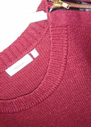 Бордовый свитерок3