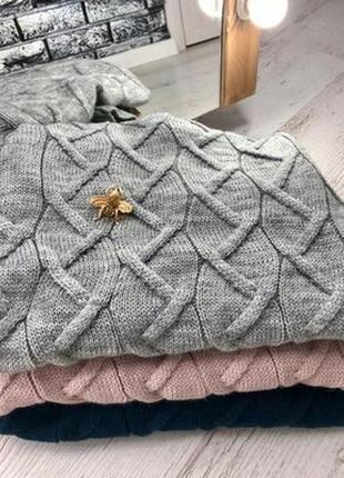 Вязанный шерстяной свитер гольф водолазка с-м-л 42-44-46 цвета в наличии3