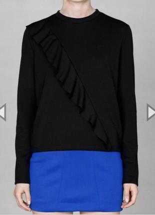 Новая синяя трикотажная эластичная мини короткая  юбка2 фото