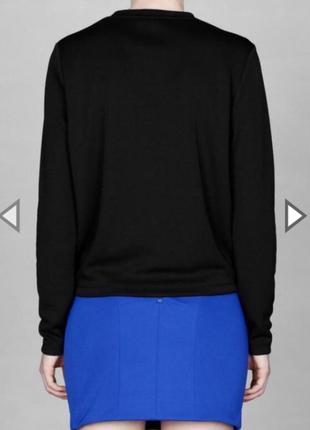 Новая синяя трикотажная эластичная мини короткая  юбка3 фото