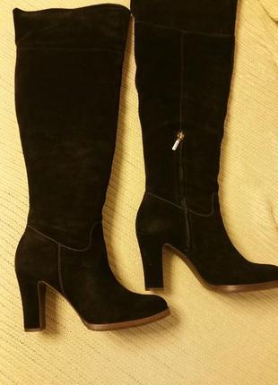 Geox,сапоги замшевые,размер 40, черные2