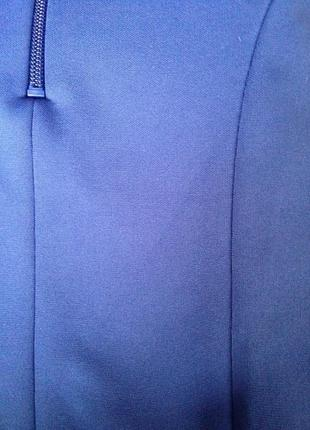 Новая синяя трикотажная эластичная мини короткая  юбка5 фото