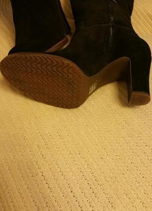 Geox,сапоги замшевые,размер 40, черные3