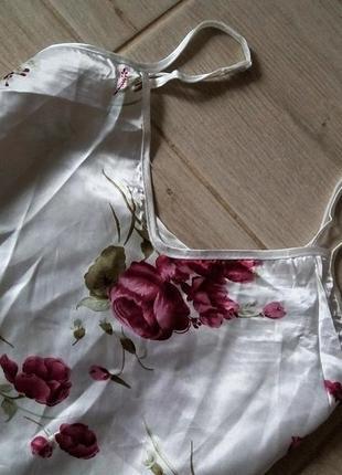 Стильная легка пижама шорты майка для сна цветочный принт2 фото