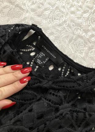 Красивая кружевная черная кофточка 10- размер2 фото