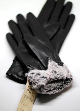 Размеры 6 и 8 перчатки из кожи ягненка на искусственном меху2 фото