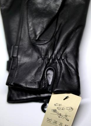 Размеры 6 и 8 перчатки из кожи ягненка на искусственном меху4 фото
