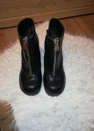 Ботинки женские ботинки на толстом каблуке трендовые ботинки4