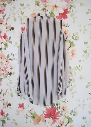Базовая полосатая блузка с вырезами на плечах new look3