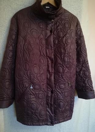 Немецкая стеганная курточка баклажанного цвета, размер 58/60.1 фото