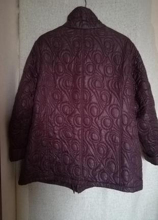Немецкая стеганная курточка баклажанного цвета, размер 58/60.2 фото