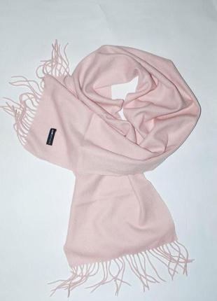 Кашемировый шерстяной розовый, светло- розовый шарф  jjb benson1