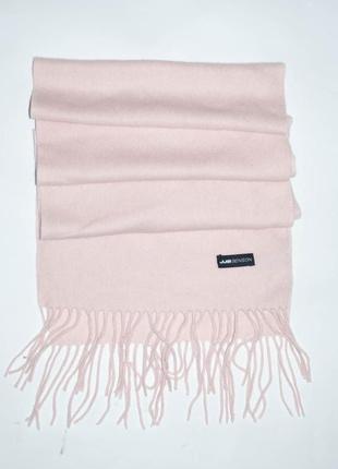 Кашемировый шерстяной розовый, светло- розовый шарф  jjb benson2