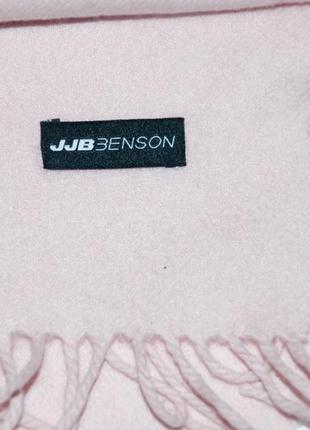 Кашемировый шерстяной розовый, светло- розовый шарф  jjb benson4