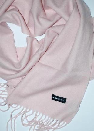 Кашемировый шерстяной розовый, светло- розовый шарф  jjb benson3