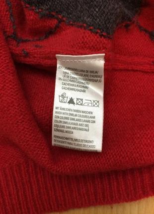 Шерстяной свитер пуловер с орнаментом marc o'polo оригинал2