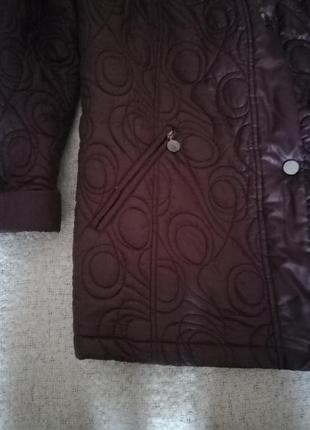 Немецкая стеганная курточка баклажанного цвета, размер 58/60.3 фото