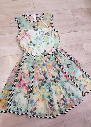 Нежное пышное платье с карманами и фатиновым подьюбником2 фото