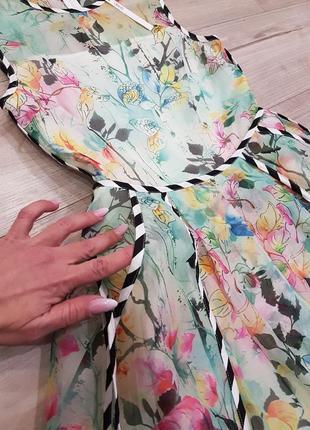 Нежное пышное платье с карманами и фатиновым подьюбником3 фото