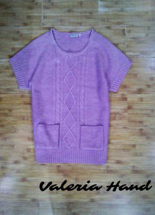 Вязаный теплый мягкий жилет - безрукавка - джемпер - свитер - размер 501