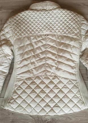 Бежевая куртка zara premium молочного цвета3