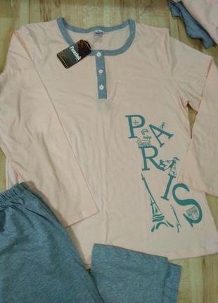 Пижама, 100% хлопок, размер l2 фото