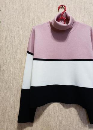 Стильный, качественный свитер, джемпер с горлом new look1