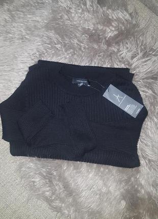 Черное платье рубчик по фигуре р. 12 м- l3
