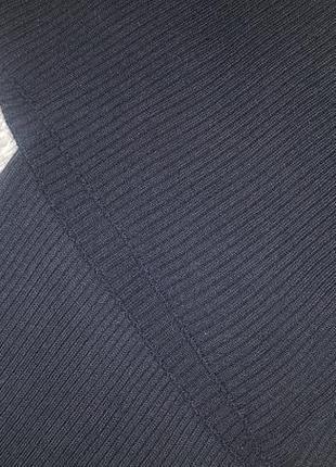 Черное платье рубчик по фигуре р. 12 м- l4