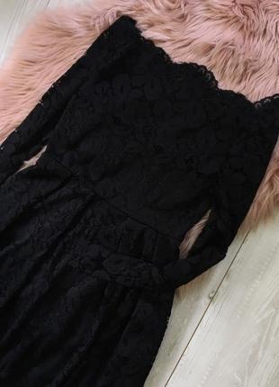 Кружевное платье с открытыми плечами2