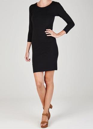 Miso 3/4 легкое женское платье черного цвета1
