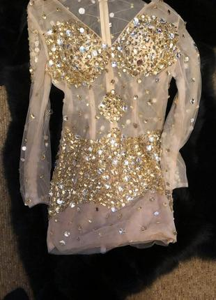 Платье вечернее стразы камн jovani1