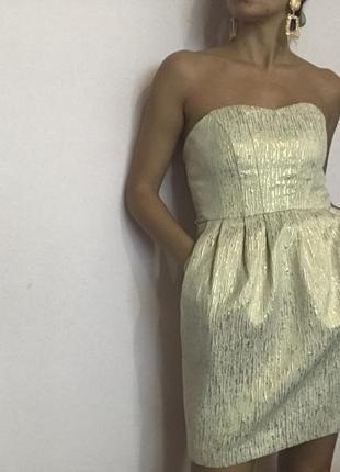 Платье золотое1